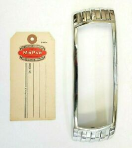 1948 Desoto S 8 Deluxe Right Tail Light Bezel Door Chrome 904977 New Old Stock Fits Desoto