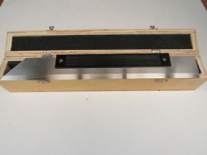 New 15 400mm Steel Straight Edge In Fitted Box