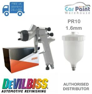 Devilbiss Pri Pro Lite Pr10 1 6mm Gravity Spray Gun Primer Topcoat 2k