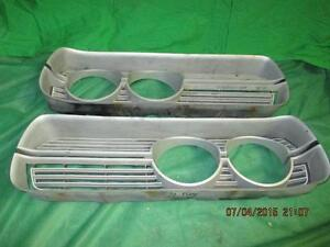 Pair 1972 72 Plymouth Fury Grill Inserts Good Used Mopar 3573228 3573229