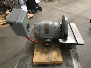 12 Disc Sander With 1 Hp Reuland Electric Motor