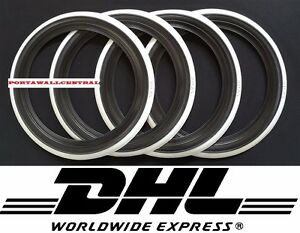 Rat Rod 14 Black Whitewall Portawall Tire Trim Set Mercedes W112 W114 W115 W116