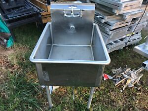 Baxter Stainless Steel 27 X 35 Commercial Heavy Duty 1 Compartment Wash Sink