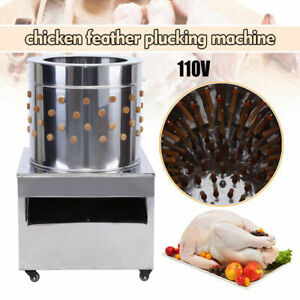 110v Stainless Steel Commercial Turkey Chicken Plucker Poultry Plucking Machine