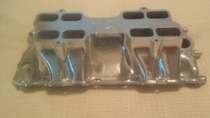 Bbc Offenhauser 5904 Intake Manifold Rectangle Port Tunnel Ram