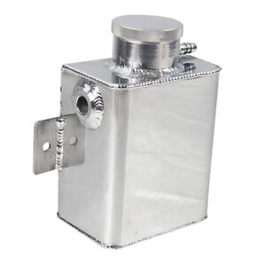 Universal Aluminum Coolant Overflow Bottle Tank Fabricated Billet Cap Usa