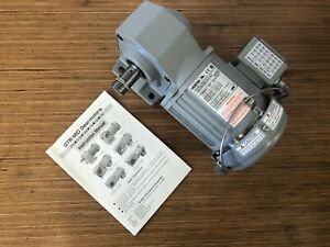 Brother 3 phase Gear Motor 1 8 Hp 80 1 Ratio Right Angle Drive Brand New
