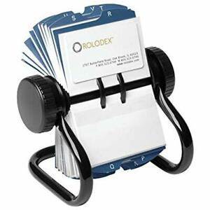 Open Rotary Business Card File With 200 2 5 8 By 4 Inch Sleeve And 24 Guide