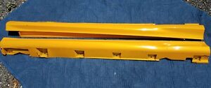 Ford Focus St Side Skirts Rocker Panel Mouldings Lh Rh Pair Yellow 2013