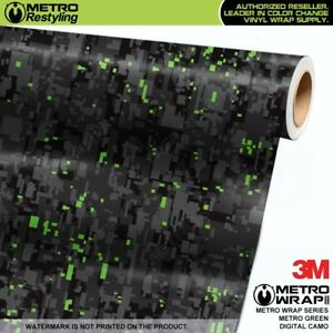 Digital Metro Green Camouflage Vinyl Vehicle Car Wrap Camo Film Sheet Roll