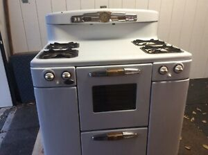 Vintage Tappan Gas Stove C1950 Deluxe
