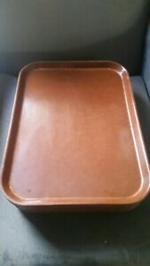 Lot Of 10 Cambro Camtray Fast Food Rectangular Trays Brown 12 X 16 Fiberglass