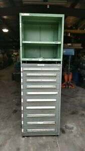 Stanley Vidmar 10 Drawer Industrial Tooling Cabinet optional Uppr Shelving Unit