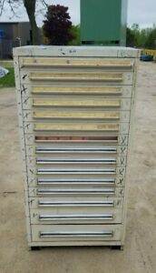 Stanley Vidmar 15 Drawer Industrial Tooling Cabinet W dividers 30 x30 x60