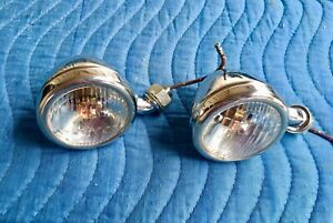 1933 1934 Ford Cowl Lights Stainless Reproductions Set Of 2 Free Shipping