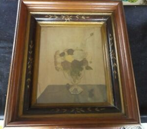 Antique Victorian Eastlake Style Shadowbox Picture Frame Carved 15 X 17 Deep