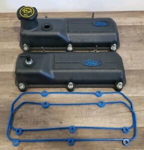 Oem Ford 94 98 Mustang V6 3 8 Essex Aluminum Valve Covers W gaskets bolts cap
