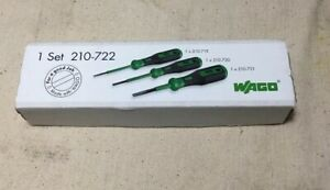 Wago 210 722 Terminal Block Operating Tool Set 3pcs Made In Germany