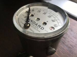 Rare Antique Speedometer Standard Thermometer Co 1909 Boston Mass 60mph Vintage