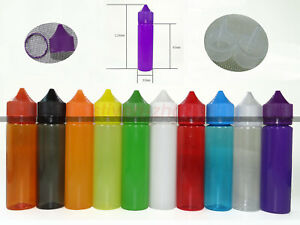 11 Colors 2oz 60ml Plastic Double Safe Childproof Long Dropper Bottle Pen Pet