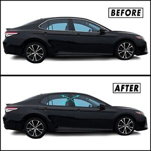 Chrome Delete Blackout Overlay For 2018 2020 Toyota Camry Window Trim