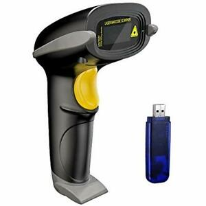 Wireless Barcode Scanner 328 Feet Transmission Distance Usb Cordless 1d Laser
