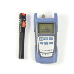 New Fiber Optical Power Meter And 10km 10mw Visual Fault Locator Cable Tester