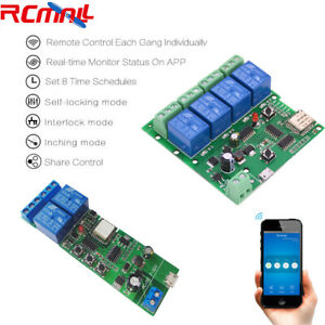 2 4 Channel Wifi Relay Module Smart Home App Remote Control Switch Dc 7 32v
