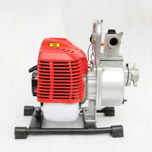 Vi 1 Inch 2 Stroke Portable Petrol High Flow Water Transfer Pump Irrigation New