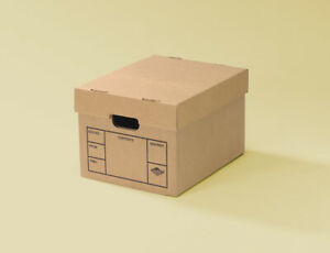 File Moving Boxes 200 Strength Small 15 X 12 X 10 Inches 6 Pack