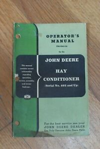 John Deere Hay Conditioner Operator s Manual Om h60 156