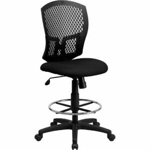 Mid back Designer Back Drafting Chair With Padded Fabric Seat Flawl3958sygbkdgg