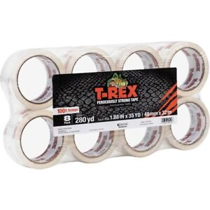 T rex Strong Packaging Tape 1 88 Width X 35 Yd Length Heavy Duty Adhesive