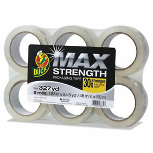 Duck Max Strength Packaging Tape 55 Yd Length 6 Pack Clear Duc241513