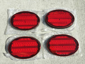 4 New Rv Camper Motorhome Trailer Bus 52 Led Stop Turn Tail Light 8 oval Red