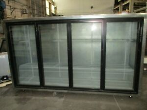 Used Custom 4 Glass Door Reach in Floral Cooler W Brand New Compressor