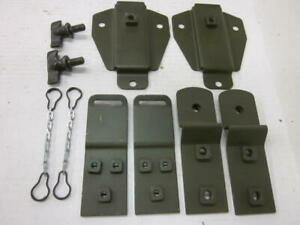 Willys Vintage Military M38 Jeep G740 Top Bow Bracket Set