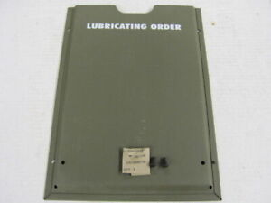 Mb Gpw Willys Ford Wwii Jeep G503 Lubrication Chart Holder