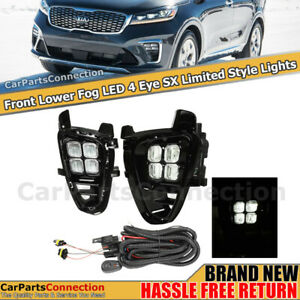 Fog Lights Led With Switch Wire Harness Black 4 Eyes Drl For Kia Sorento 19