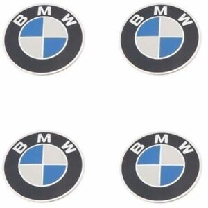 36131122132 Bmw Oe Factory Genuine Wheel Center Cap Emblem Badge Logo X4 Set