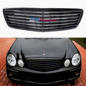 Front Grille Grill For Mercedes W211 E Class E320 E350 E500 E55 2002 2006 Black