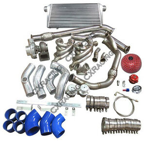 Turbo Manifold Intercooler Kit For 240sx S13 S14 Ls1 Lsx Engine Swap