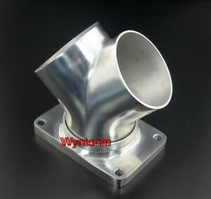 T6 Diesel Turbo Inlet To 3 Stainless Weld On Adapter Flange W 3 Ss Y Pipe