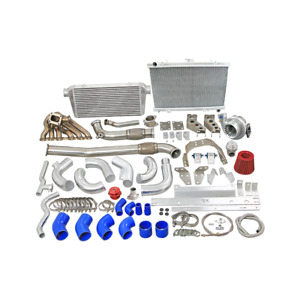 Cxracing 2jzgte Single Turbo Kit With Intercooler Radiator Kit For Rx7 Fc Swap