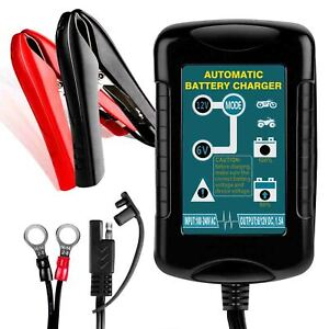 6v 12v 1 5a Lead Acid Smart Battery Charger Maintainer For Rv Motorcycle Vehicl