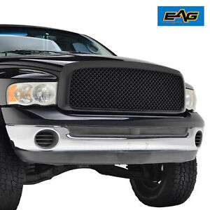 Eag Replacement Grille Upper Full Mesh Grill For 02 05 Dodge Ram 1500 2500 Main