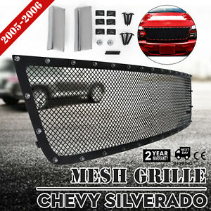 Rivet Mesh Grille For Chevy Silverado 2005 2006 Insert Set Upper 1500 2500 3500
