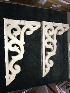 Antique Corbels Architectural Salvage 1800s Victorian Wood Porch Corbel Pair