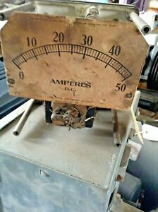 Antique Steampunk Weston Electrical Instrument Corp Model Meter 0 50 Amperes