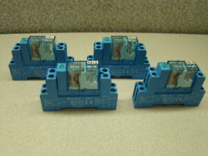 Finder 40 51 Relay 10a W Relay Socket 95 85 1 Qty Of 4